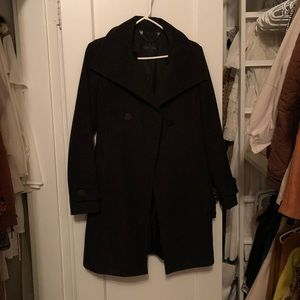 Babaton double breasted wool cashmere coat